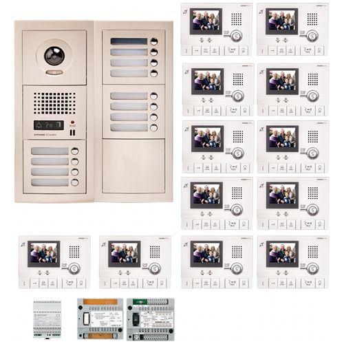 Kit Videointerfon Aiphone Gtv12f + 12 Posturi Interior Gt-1c-l