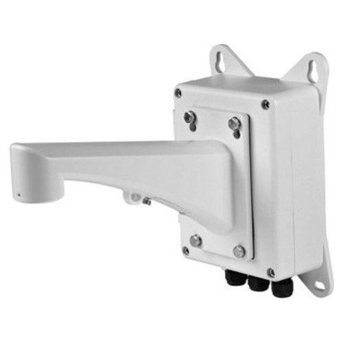 Accesoriu supraveghere Hikvision DS-1601ZJ-BOX, Suport cu doza de derivatie, Montare perete, Aliaj aluminiu, Alb