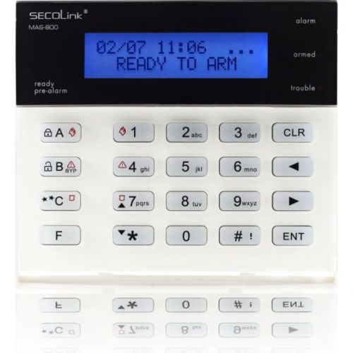 Tastatura Alarma Secolink Km20bt  Lcd  2 Randuri X 16 Caractere  Termometru Incorporat