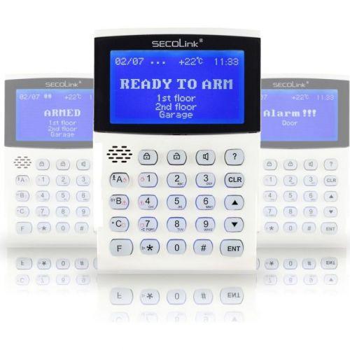 Tastatura Alarma Secolink Km24  Lcd  Grafica 128x6