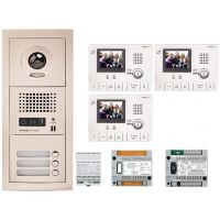 Kit Videointerfon Aiphone GTV3F + 3 posturi interior GT-1C-L