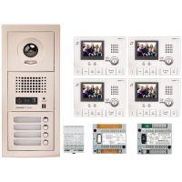 Kit Videointerfon Aiphone GTV4F + 4 posturi interior GT-1C-L