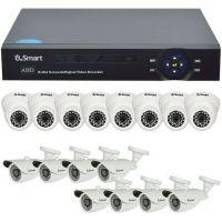 Sistem supraveghere analogic U.Smart D1-316 V2, AHD, HD 720p, 16 camere mixte