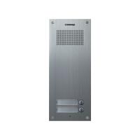 Post exterior audio Commax DR-2UM, 2 butoane, aluminiu