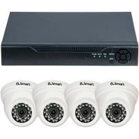 Sistem supraveghere analogic U.Smart D1-304.P, AHD, HD 720p, 4 camere Dome UD-405, Interior