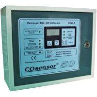 Centrala monoxid de carbon Cofem CCO-1, 1 zona, Max. 15 detectori, Dubla ventilatie si iesire baterii