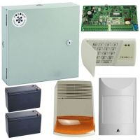 Kit antiefractie Posonic Exterior, 18 zone, Centrala alarma + cutie + acumulator + tastatura + senzor miscare + sirena exterior