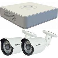 Sistem supraveghere analogic Hikvision DS-7104HGHI-F1, TVI, HD 720p, 2 camere Bullet UB-503, Exterior