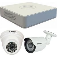 Sistem supraveghere analogic Hikvision DS-7104HGHI-F1, TVI, HD 720p, 2 camere mixte