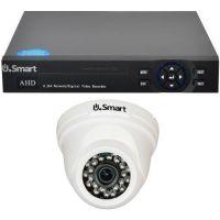 Sistem supraveghere analogic U.Smart D1-404, AHD, Full HD 1080p, 1 camera Dome UD-424, Interior