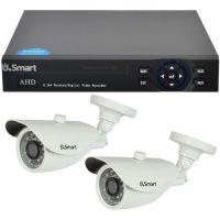 Sistem supraveghere analogic U.Smart D1-404, AHD, Full HD 1080p, 2 camere Bullet UB-427, Exterior