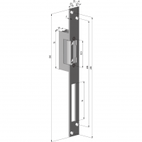 Electromagnet Yale YB17-12D-LM, Forta 250Kg, Fail Lock, Parghie deblocare