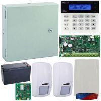 Kit antiefractie Secolink KIT-SEK-2COM, wireless P16 + tastatura + cutie + 2 detectori + sirena exterior + acumulator + comunicator GPRS inclus