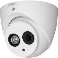 Camera Analogica Dahua HAC-HDW1100EM-A, HD-CVI, Dome, 1MP, 3.6mm, EXIR 1 LED Array, IR 50m, Microfon, D-WDR, Rating IP67, Carcasa aluminiu