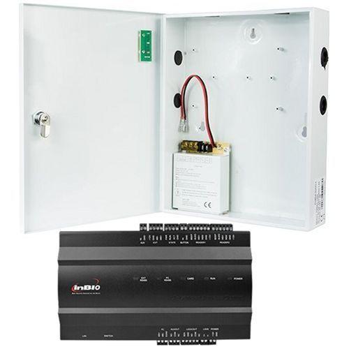 Kit Control Acces ZKAccess inBio-160, Centrala  Biometrica IP, 1 usa bidirectionala, suporta 2 cititoare + Cutie cu sursa de alimentare