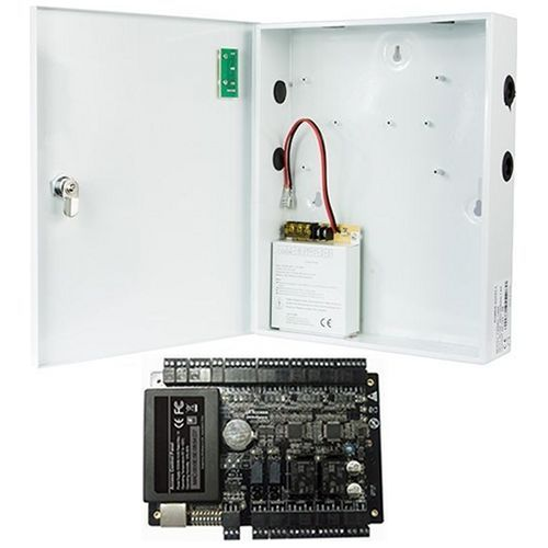 Kit Control Acces ZKAccess C3-200, 2 usi bidirectionale, suporta 4 cititoare + Cutie metalica