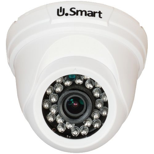 UD-504, TVI, Dome, 1MP 720P,  CMOS OV 1/4 inch, 2.8mm, 24 LED, IR 20m, Carcasa plastic