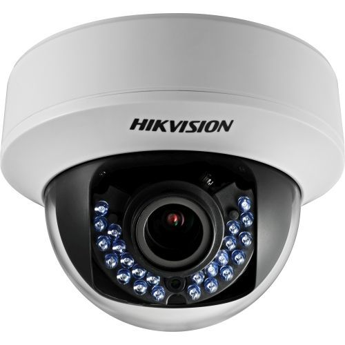 Camera Analogica Hikvision DS-2CE56D1T-VPIR, TVI, Dome, 2MP, 2.8mm, 24 LED, IR 20m, Antivandal IK10, Motion Detection, Anti-flicker, UTC