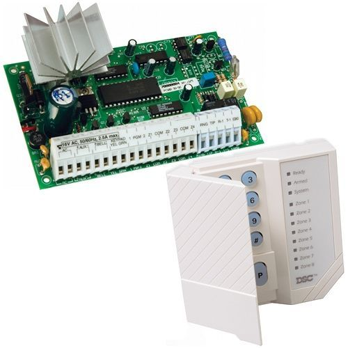 Centrala anti-efractie DSC PC585, 4 zone + Tastatura PC1555