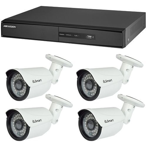 Sistem supraveghere analogic Hikvision Exterior, TVI 720p, 4 camere Bullet UB-503