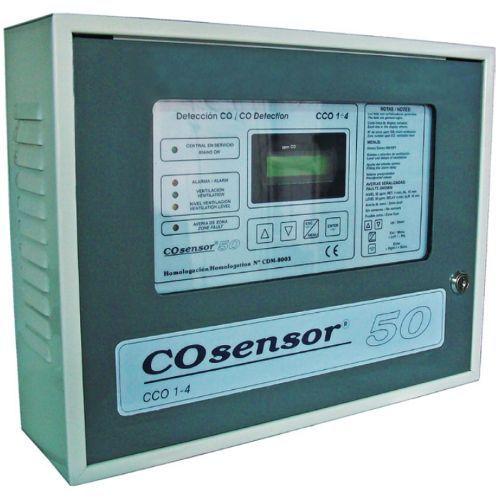 Centrala monoxid de carbon Cofem CCO1-4, 1 zona, Dubla ventilatie si iesire baterii