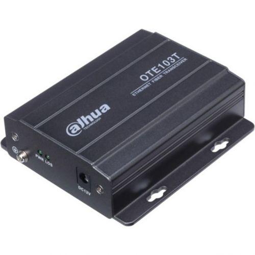 Accesoriu supraveghere Dahua OTE103T, Transmitator Ethernet pe fibra