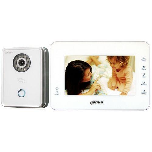 Kit Videointerfon Dahua VTKB-VTO6210BW-VTH1560BW, IP, Post exterior VTO6210BW + Monitor VTH1560BW