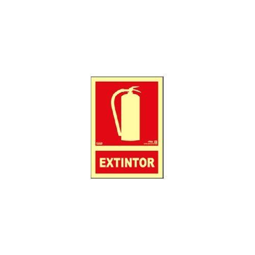 Accesoriu detectie incendiu Cofem Placuta PVC foto luminescenta [Stingator/Extinguisher]
