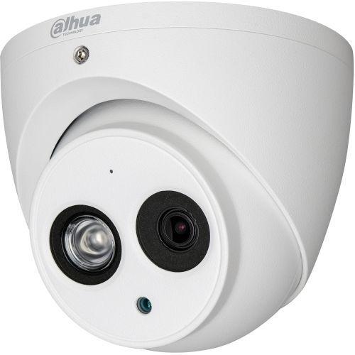Camera de supraveghere Dahua HAC-HDW2221EM-A, HD-CVI, Dome, 2MP, 3.6mm, EXIR 1 LED Array, IR 50m, Microfon, WDR 120dB, Rating IP67, Carcasa aluminiu
