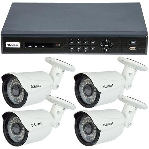 Sistem supraveghere analogic HD VIEW Exterior, TVI 720p, 4 camere Bullet