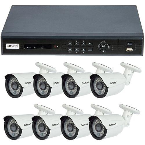 Sistem supraveghere analogic HD VIEW Exterior, TVI 720p, 8 camere Bullet