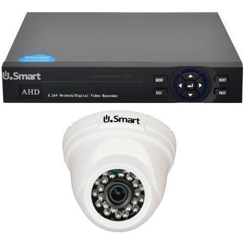 Sistem supraveghere U.Smart D1-404, AHD, Full HD 1080p, 1 camera Dome UD-424, Interior