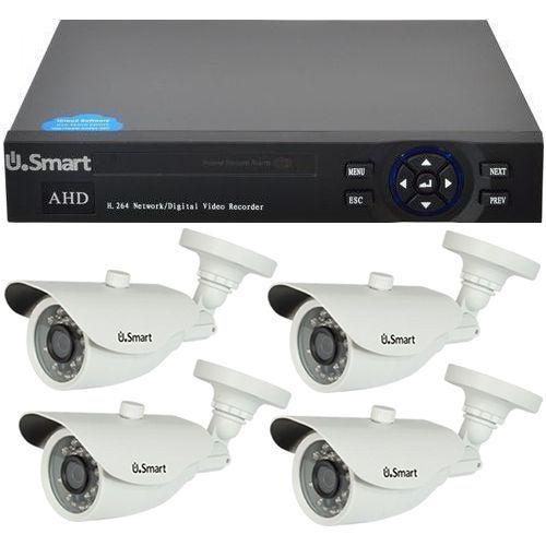 Sistem supraveghere U.Smart D1-404, AHD, Full HD 1080p, 4 camere Bullet UB-427, Exterior