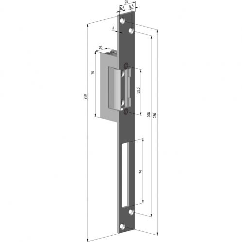 YB37-12D-LR, Forta 250Kg, Fail Lock, Contact monitorizare