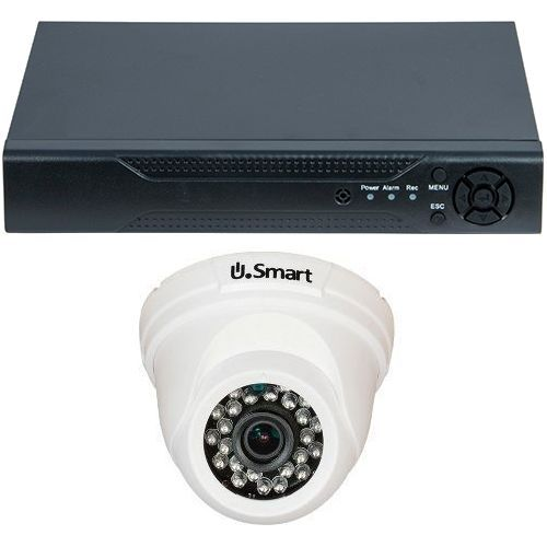 Sistem supraveghere U.Smart D1-304, AHD, HD 720p, 1 camera Dome UD-405, Interior