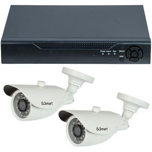 Sistem supraveghere U.Smart D1-304, AHD, HD 720p, 2 camere Bullet UB-407, Exterior