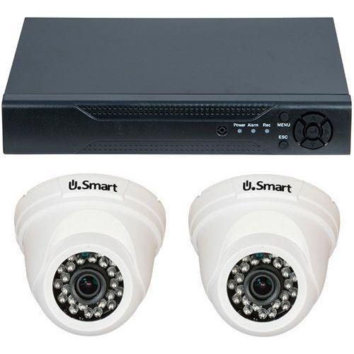 Sistem supraveghere U.Smart D1-304, AHD, HD 720p, 2 camere Dome UD-405, Interior