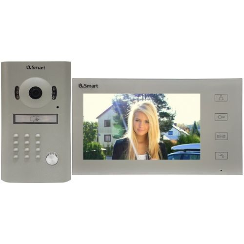 USM2307W Alb, Post exterior camera color si IR + post interior cu ecran color 7 inch