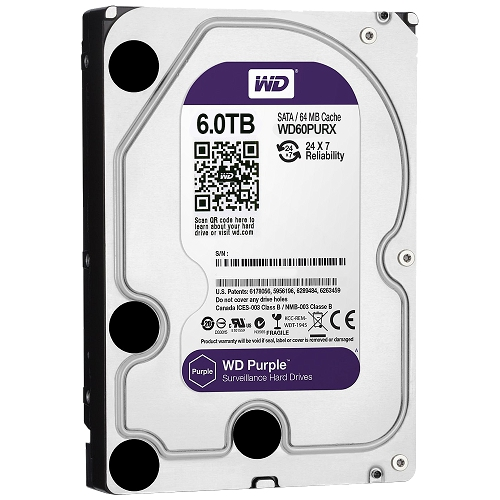 Hard Disk Western Digital Purple Surveillance 6TB SATA3 64MB