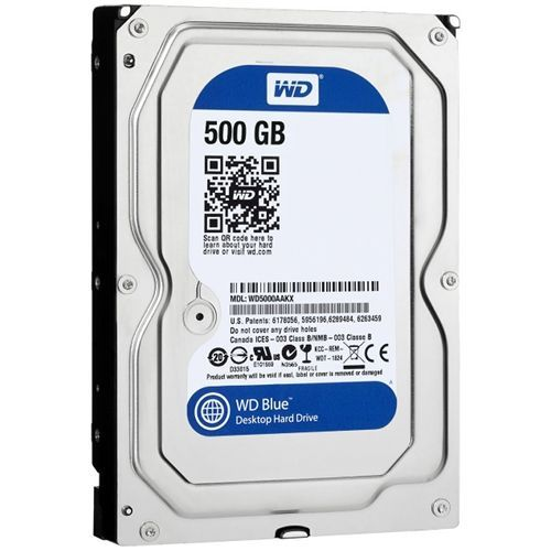 Hard Disk Western Digital Blue 500GB SATA3 64MB 5400rpm