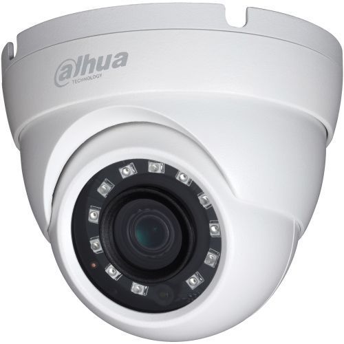 Camera Supraveghere Analogica Dahua HAC-HDW1200M S3, HD-CVI, Dome, 2MP, 3.6mm, 12 LED, IR 30m, D-WDR, Rating IP67, Carcasa aluminiu