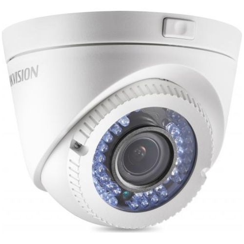 Camera Analogica Hikvision DS-2CE56D5T-IR3Z, TVI/CVBS, Dome, 2MP, 2.8 - 12mm, 42 LED, IR 40m, Zoom motorizat, WDR 120dB, Motion Detection, HSBLC