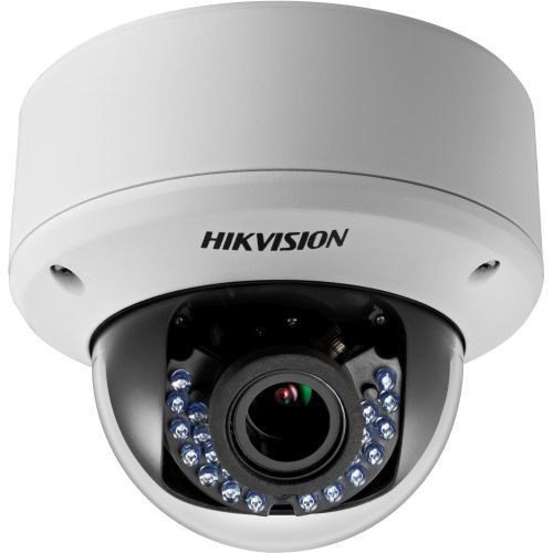 Camera de supraveghere Hikvision DS-2CE56D5T-AVPIR3Z, TVI/CVBS, Dome, 2MP, 2.8-12mm, 24 LED, IR 40m, WDR 120dB, Antivandal IK10, Zoom motorizat, 12V/24V