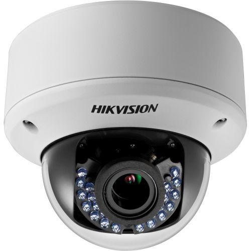 Camera Analogica Hikvision DS-2CE56D5T-AVPIR3Z, TVI/CVBS, Dome, 2MP, 2.8-12mm, 24 LED, IR 40m, WDR 120dB, Antivandal IK10, Zoom motorizat, 12V/24V