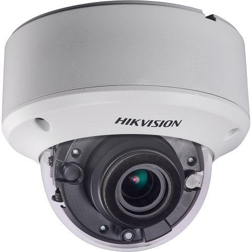 Camera Supraveghere Analogica Hikvision DS-2CE56D7T-AVPIT3Z, TVI, Dome, 2MP, 2.8-12mm, EXIR 2 Arrays, IR40m, Zoom motorizat, Antivandal IK10, WDR 120dB, 12V/24V
