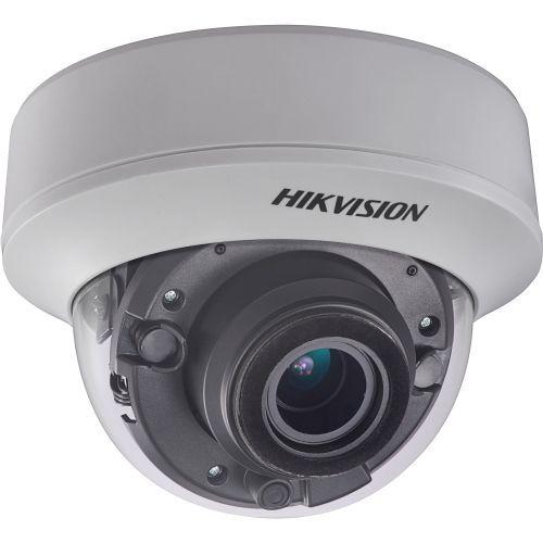 Camera de supraveghere Hikvision DS-2CE56F7T-ITZ, TVI, Dome, 3MP, 2.8 - 12mm, EXIR 2 LED Arrays, IR 30m, Zoom motorizat, WDR 120dB, UTC