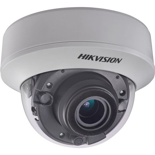 Camera de supraveghere Hikvision DS-2CE56F7T-AITZ, TVI, Dome, 3MP, 2.8 - 12mm, EXIR 2 LED Arrays, IR 30m, Zoom motorizat, WDR 120dB, 12V/24V, UTC
