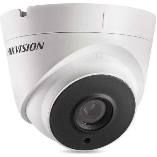 Camera Supraveghere Analogica Hikvision DS-2CE56H1T-IT1, TVI, Dome, 5MP, 3.6mm, EXIR 1 LED Array, IR 20m, Rating IP67, UTC