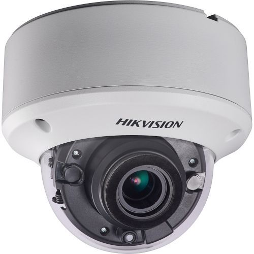 Camera Analogica Hikvision DS-2CE56H1T-AVPIT3Z, TVI, Dome, 5MP, 2.8 - 12mm, EXIR 2 LED Arrays, IR 40m, Zoom motorizat, Antivandal IK10, 12V/24V
