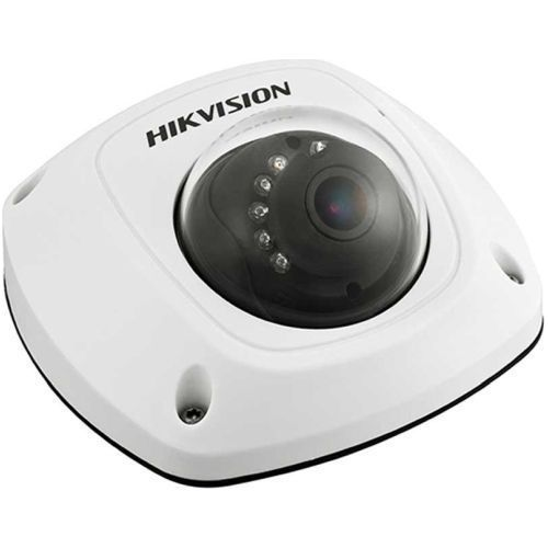 Camera de supraveghere Hikvision DS-2CS58A1P-IRS, CVBS, Mini Dome, 700 TVL, 12mm, 10 LED, IR 20m, Microfon, Antivandal IK07, Motion Detection, Low Light